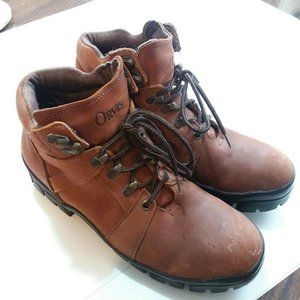 Vtg Orvis Boots Womens 9 Brown Leather Grunge